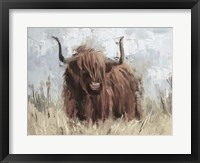 Framed Scottish Highland Bull B