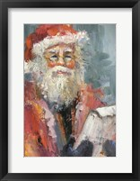 Framed Santa with naughty and nice list