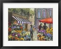 Framed Amsterdam Flower market