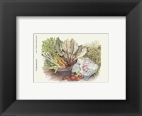 Framed Vegetable Display