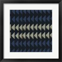 Framed Indigo Geometrics I