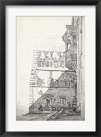 Framed European Building Sketch I