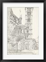 Framed European Building Sketch II