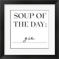 Framed Soup du Jour II