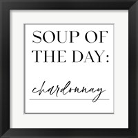 Framed Soup du Jour V