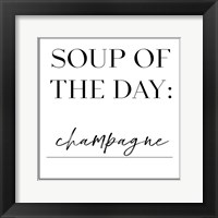 Framed Soup du Jour VI