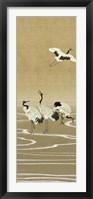 Framed Cranes on Gold I