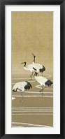 Framed Cranes on Gold II
