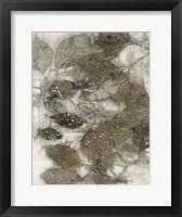 Framed Dogwood Leaves I