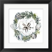 Coastal Christmas Shell II Framed Print
