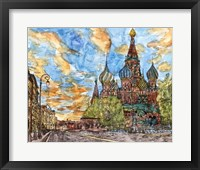 Framed Russia Temple I