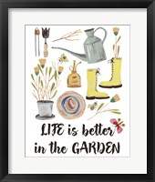 Framed Garden Time I