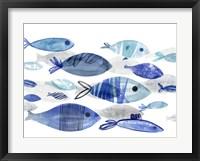 Framed Fish Parade I