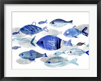 Framed Fish Parade II