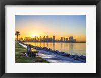 Framed Bench For A San Diego Sunrise