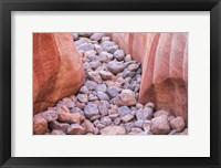 Framed Stream Of Stones