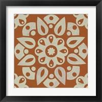 Framed Terra Cotta Tile IV