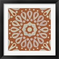 Framed Terra Cotta Tile III