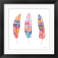 Framed Boho Feathers I