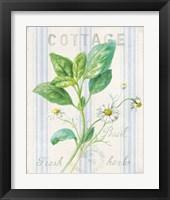 Framed Floursack Herbs IV