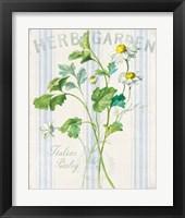 Floursack Herbs II Framed Print