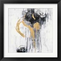 Framed Golden Rain I