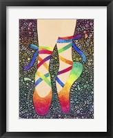 Framed Rainbow Ballet Slippers