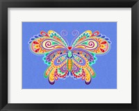 Framed Mexicana Butterfly