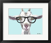 Framed Goat Patsy with Glasses