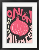 Kitchen Onion Framed Print