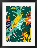 Framed Tropical Leaves One