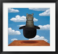 Framed Magritte Cat