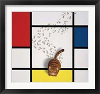 Framed Mondrian Cat