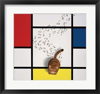 Framed Mondrian Cat