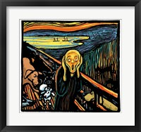 Framed Munch Dog