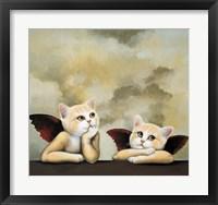 Framed Raphael Cat