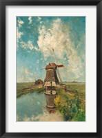 Framed Windmill on a Polder Waterway, c. 1889
