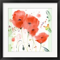 Framed Poppies Chinoise