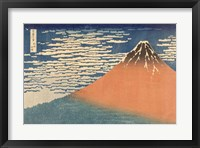 Framed Fine Wind, Clear Morning (Gaifu Kaisei), 1832