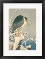 Framed Heron in Snow, 1920-1930