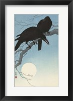 Framed Two Crows on a Branch, 1927