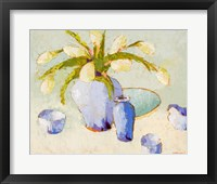 Framed White Tulips with Bulbs