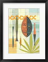 Framed Tiki Warrior No. 2