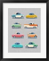 Framed Vintage Micro Cars