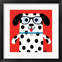 Framed Bow Wow Dalmation