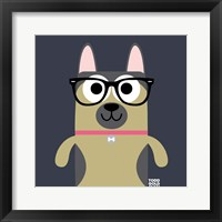 Framed Bow Wow German Shepherd