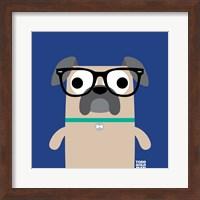 Framed Bow Wow Pug