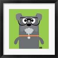Framed Bow Wow Schnauzer