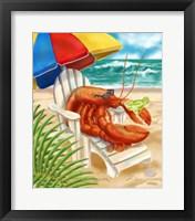 Framed Beach Friends - Lobster
