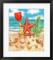 Framed Beach Friends - Starfish